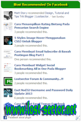 Cara Menambahkan Plugin Facebook Activity Feed Ke Blogger